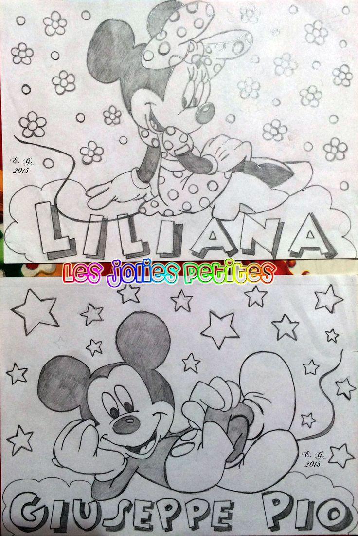 #Minnie #Topolino #Liliana #Giuseppe #Pio #disegno #drawing #MickeyMouse #matita #staedtler #fabriano #lesjoliespetites