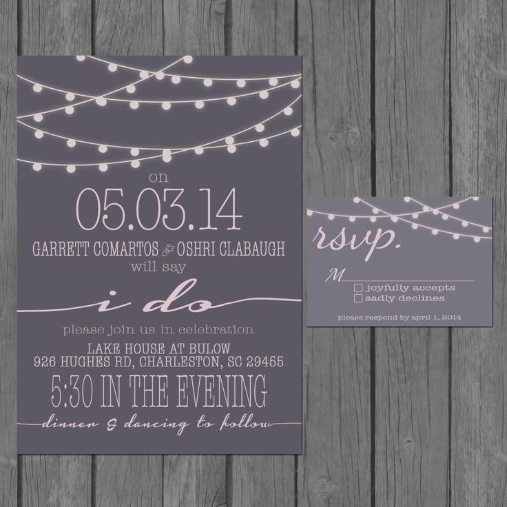 Best 25 reception only invitations ideas on pinterest reception simple wedding invitation modern strings of lights engagement party invite stopboris Image collections