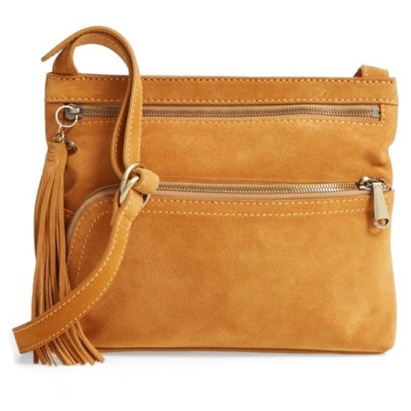 Women s Hobo Cassie Calfskin Suede Crossbody Bag ( 168) ❤ liked on Polyvore  featuring bags afc9dd0635