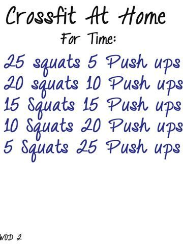 No equipment crossfit.. good to add in a home workout