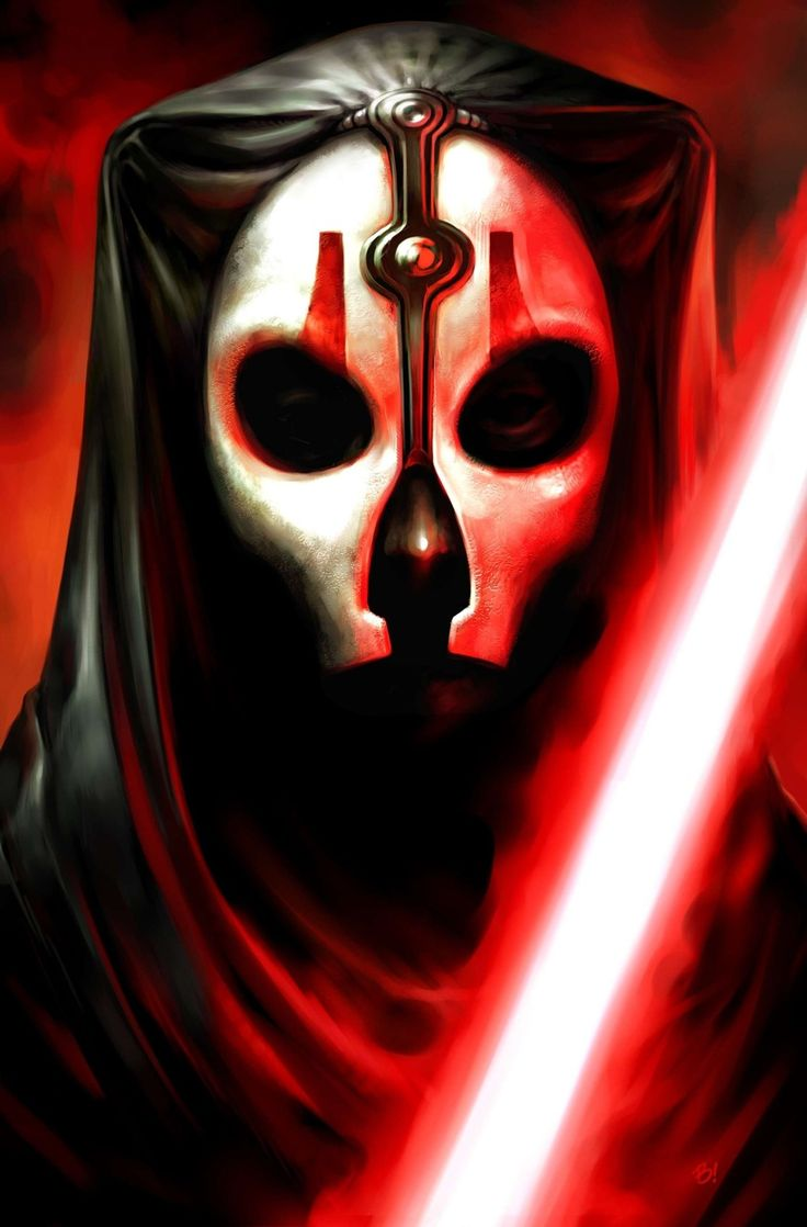 Darth Nihilus was a Human male who reigned as a Dark Lord of the Sith during the era of strife following the Jedi Civil War. Before becoming a Sith Lord, he lost everything during the Galactic Republic's war against the Mandalorian Neo-Crusaders. He survived the activation of the Mass Shadow Generator superweapon during the war's final battle at the planet of Malachor V, which surrounded the planet with a destructive spacial phenomenon known as a mass shadow