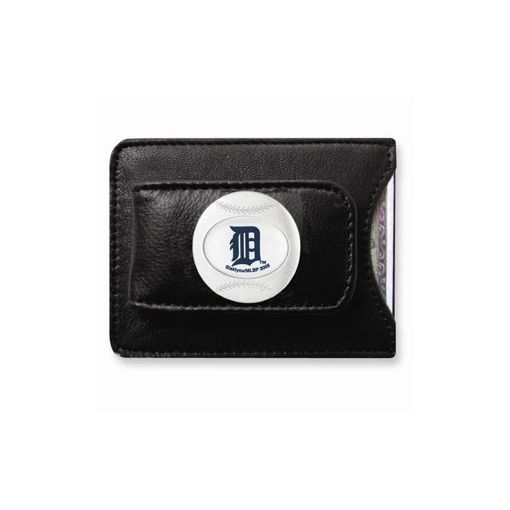 MLB Tigers Leather Money Clip