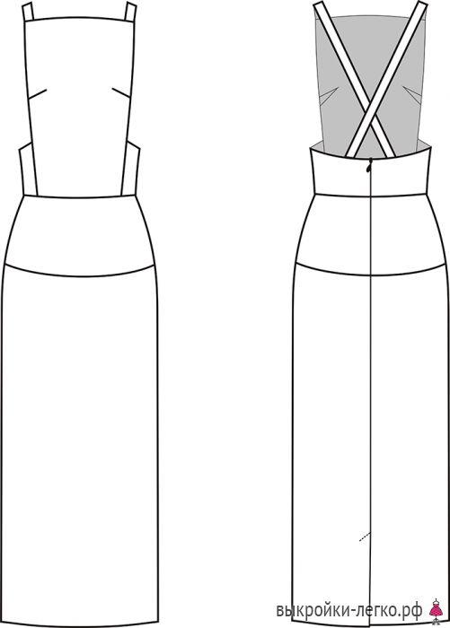 Технический рисунок базового сарафана