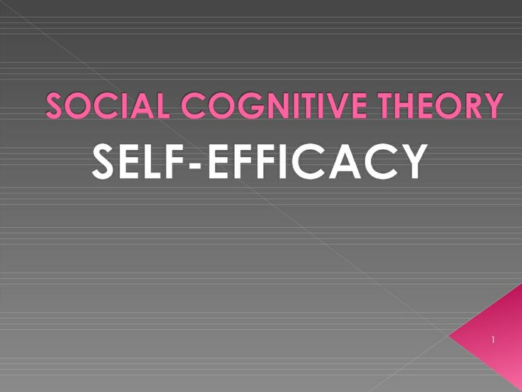 Social Cognitive Theory Self-Efficacy by Edsel Llave. Great slideshow full of of structured information all about on the Social Cognitive Theory!