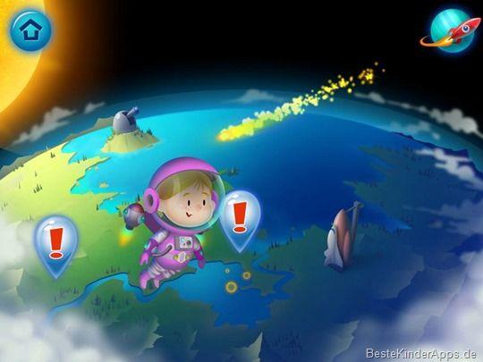 Explorium Weltraum App für Kinder iPad Android (27)