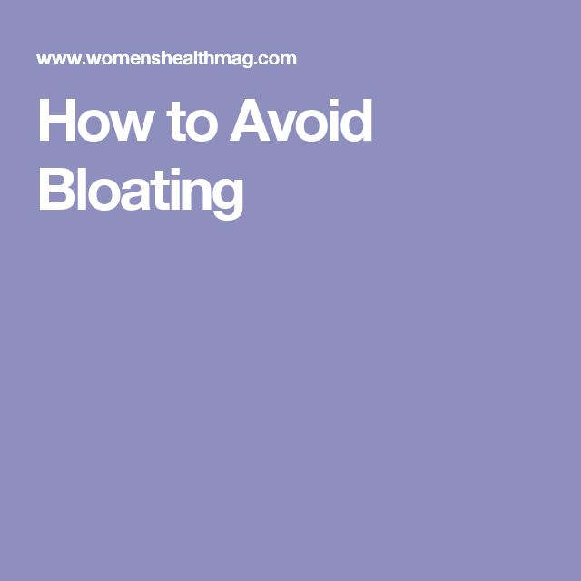 How to Avoid Bloating