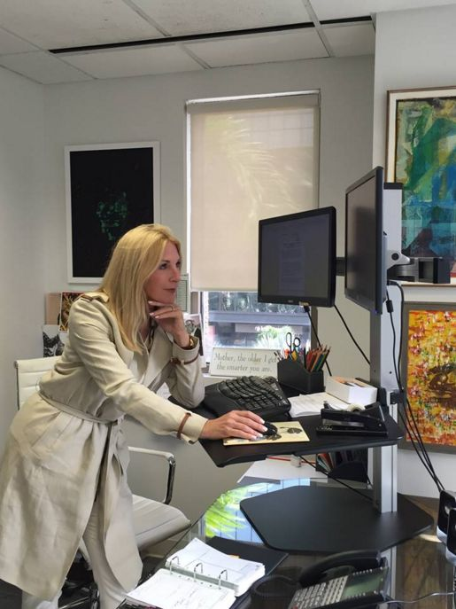 The research in favor of standing desks is rising, along with their popularity. Our president, Sissy De Maria, began using a standing desk two years ago. She still does tasks like writing notes or signing checks while sitting down, but she tackles other responsibilities like writing press releases or reviewing proposals while standing up. #KrepsPR