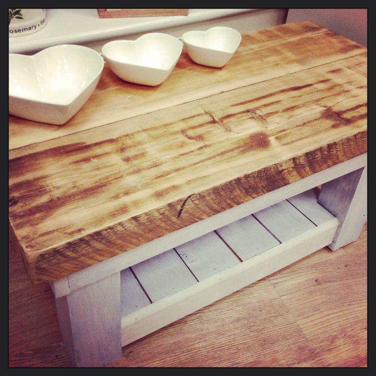 Coffee Table made from reclaimed timber. Emlyncreative.wordpress.com