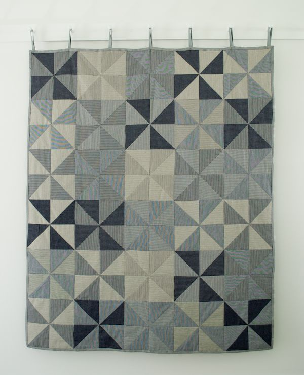 Corinne's Thread: Denim Pinwheel Quilt (striped denim) . the purl bee