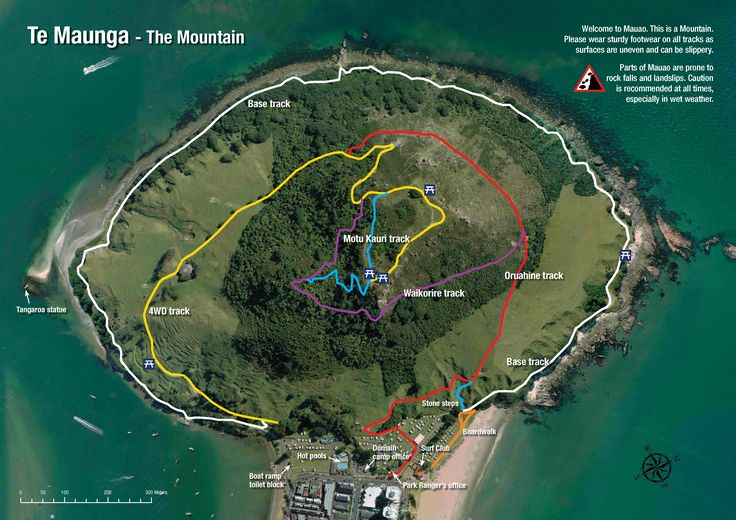 View larger map of Mauao walking tracks