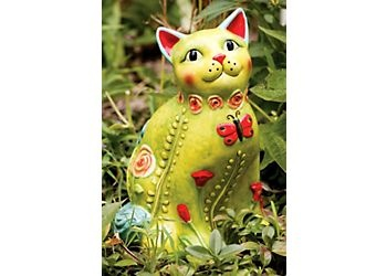 Field of Flowers Cat Garden Statue