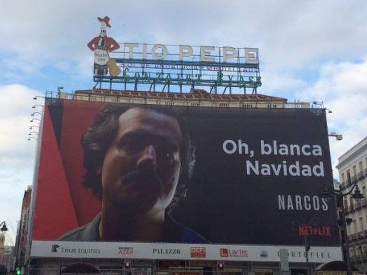 "Colombia pide la retirada del cartel de la serie ""Narcos"" de la Puerta del Sol de Madrid"