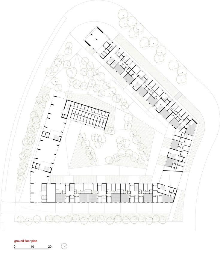 emv - 170 Social Housing VPO / Burgos & Garrido arquitectos,Ground Floor Plan 01