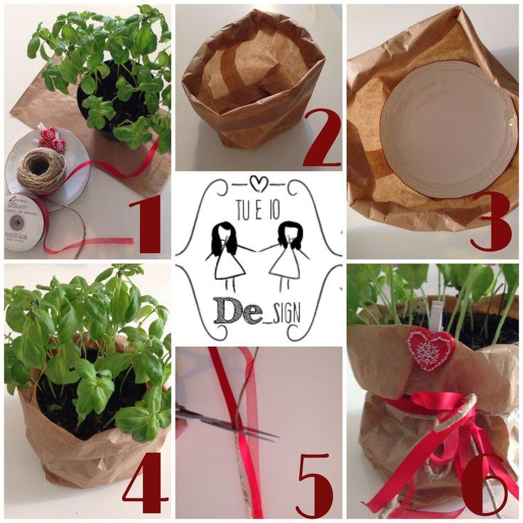 Ecco come realizzare un #vaso #kraft in poche e semplici mosse! Renderà la vostra tavola #natalizia speciale! #handmade #natale #navidad #pianta