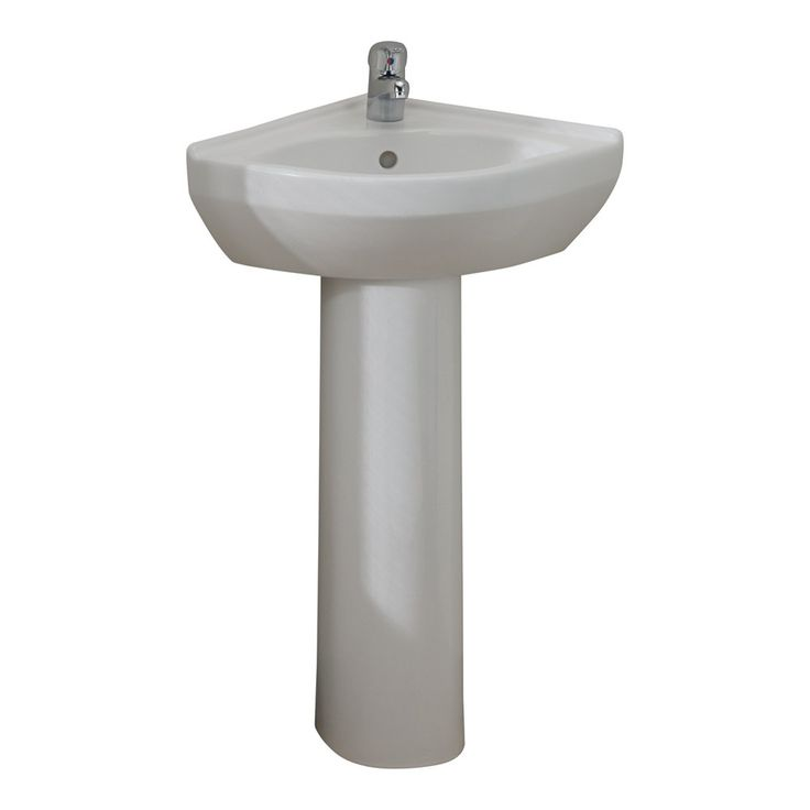 Small Corner Pedestal Sink : Corner Pedestal Sink at Lowes Canada. Find our selection of pedestal ...