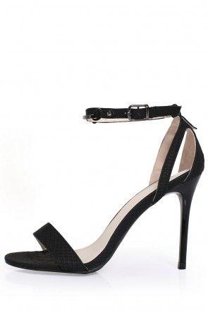 Tilly Ankle Strap Sandals in Black