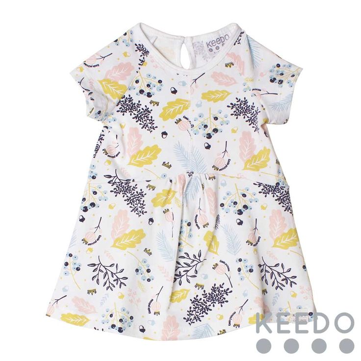 Floral dress - for those warmer winter days, this shortsleeve cotton dress is the perfect solution