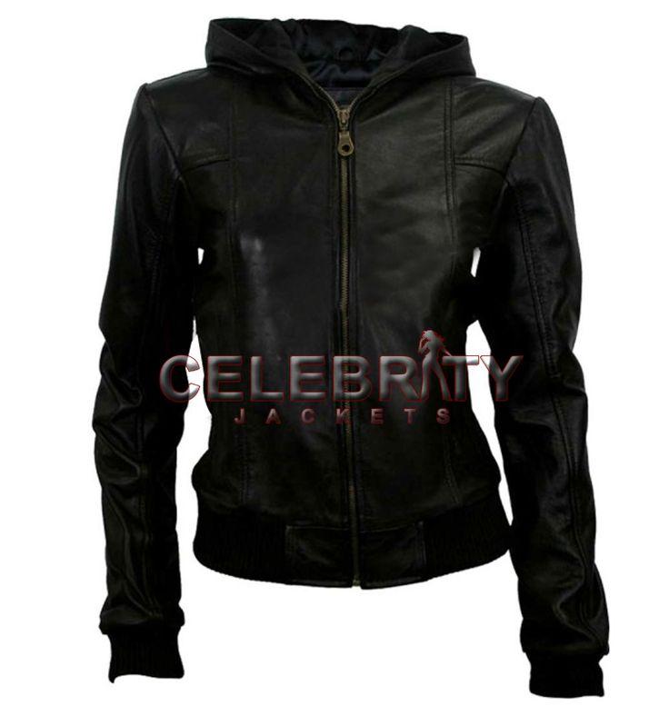Black Hoodie Leather Jacket