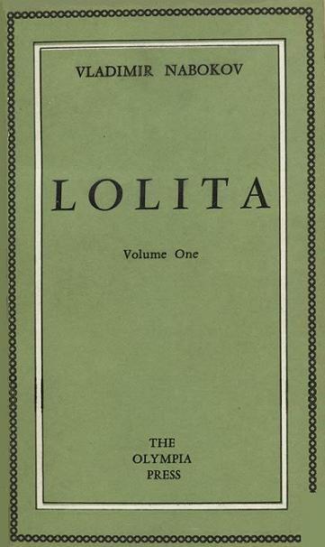 """Lolita"" (cover of the first edition) > Vladimir Nabokov > 1955 > Fiction / Romance Novel / Tragicomedy > Novel"