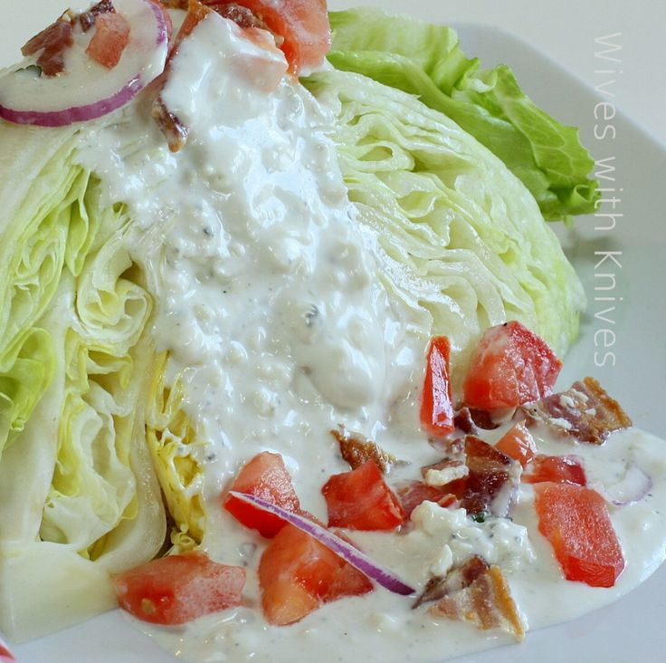 blt salad salad bar wedge salad blue cheese dressing cauliflower salad ...