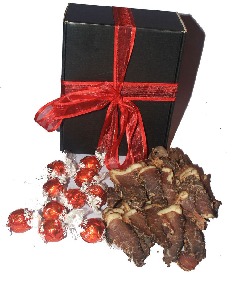 Biltong and Lindt Box