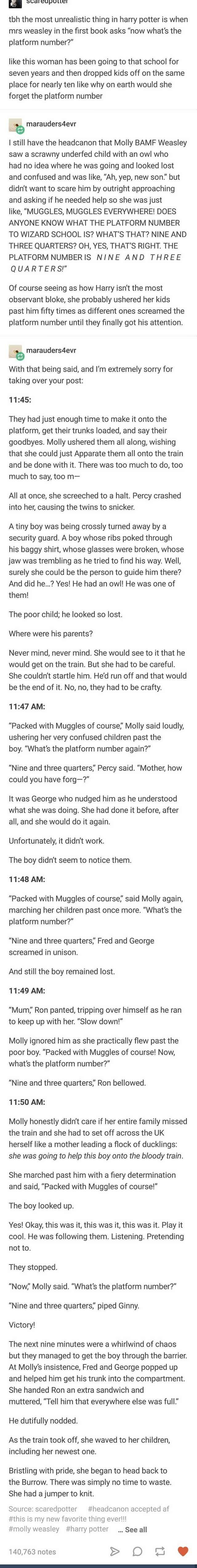In case anyone is still wondering why Molly was asking about the platform number.