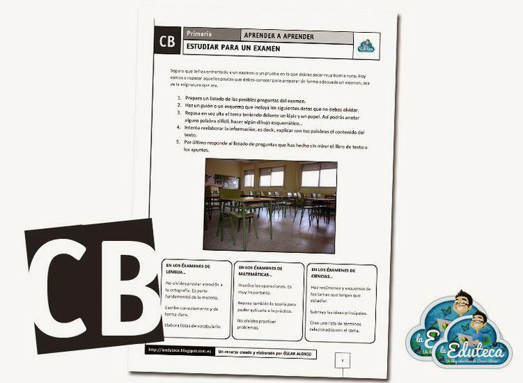TRABAJANDO LAS COMPETENCIAS | Estudiar para un examen