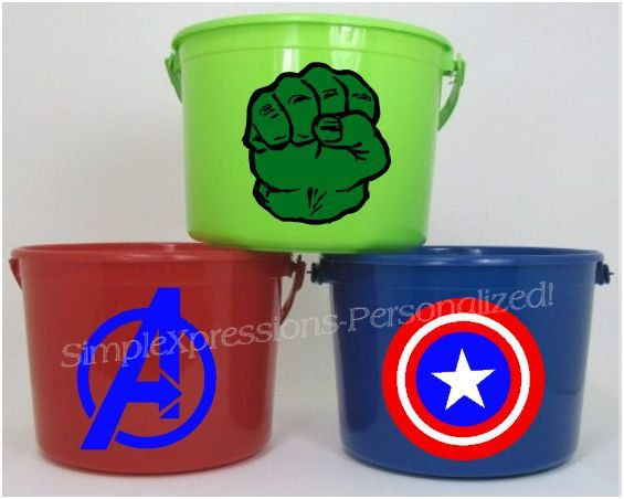Avengers party personalized birthday party favor pail by mboston9, $6.00