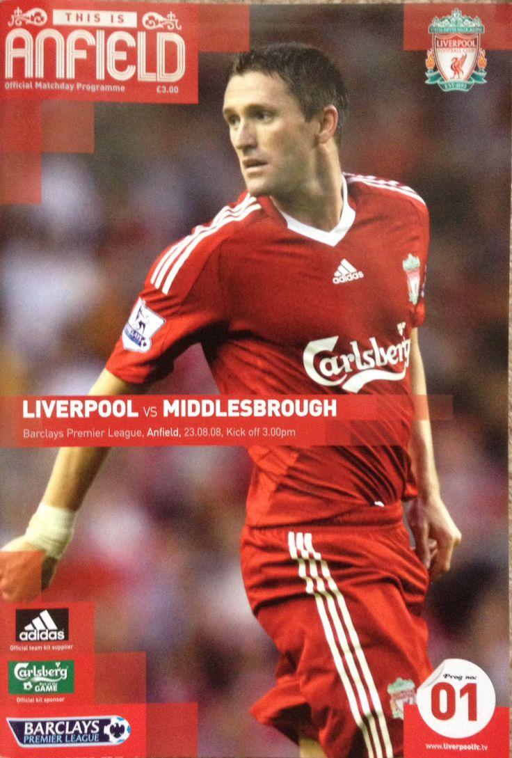 23/8/2008 Liverpool v Middlesbrough Football program