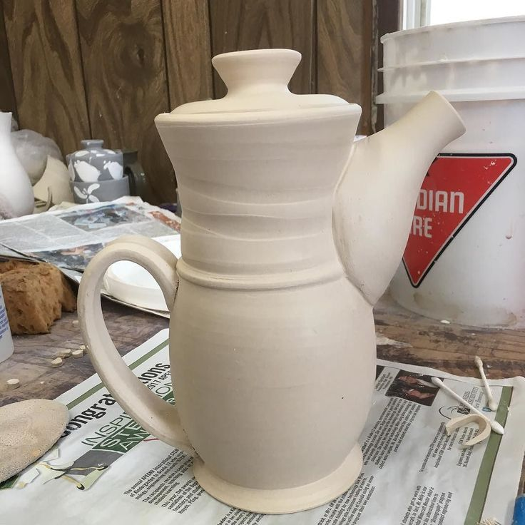 Teapoooooot! This design has been evolving for almost two years now and I think it's almost at its apex I thoroughly love how the spout came out! - #teapot #pottery #ceramics #clay #porcelain #handmade #wip #mackinleyceramics