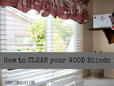 Sunny Simple Life: How to Clean Wood Blinds