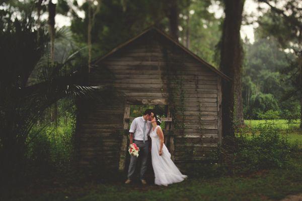 Romantic shot of the bride and groom by Jason Mize Photography   via junebugweddings.com