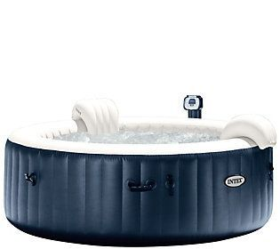 Intex Pure Spa Portable Hot Tub w/ Headrest & Extra Filters