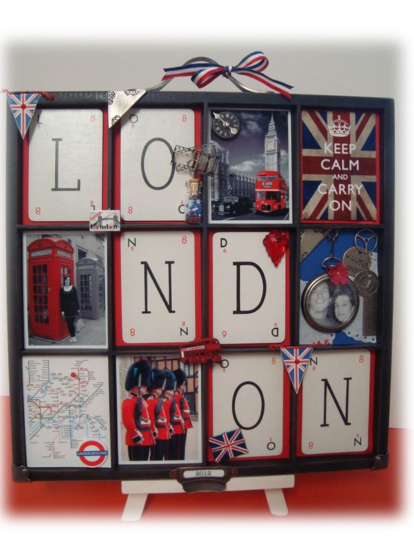 Simply Me: London 2012 Printers Tray - Totally want to make this for myself.