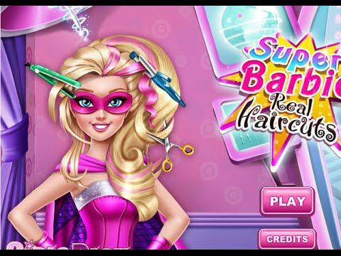 Super Barbie Real Haircuts - Disney Princess Super Barbie Games