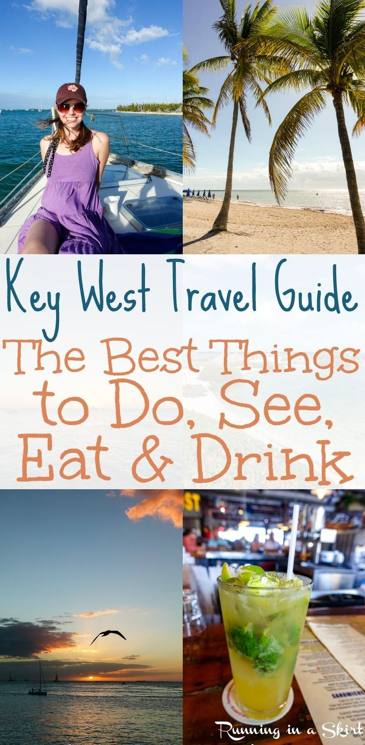 The Best Key West Travel Guide - from a frequent visitor! The best things to do, see, eat (including restaurant recommendations,) and drink. Includes activities like sailing, sunsets, sunset party at Mallory Square, Duval Street and Bucket List destinations. Tips to make the most of your time in paradise... including a day trip to Marathon Florida and highlights from the rest of the Keys.