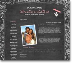 Personal Wedding Website Designs