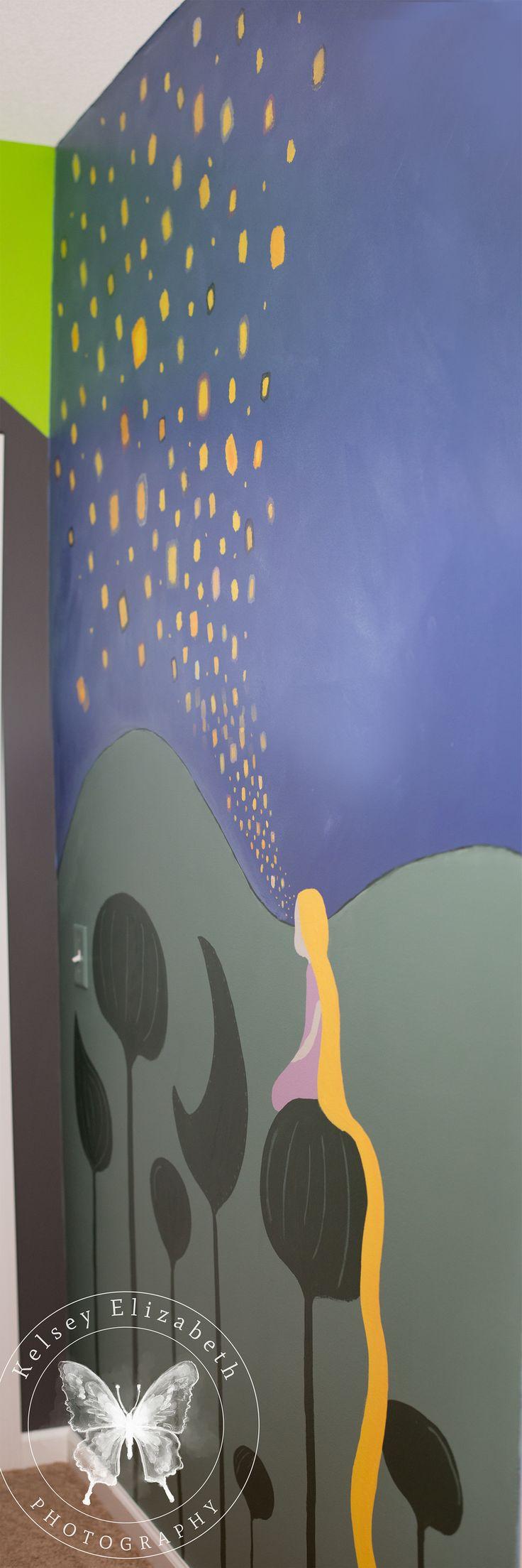 Rapunzel Bedroom; Disney Tangled Bedroom; Rapunzel Mural; Children's Bedroom; Kelsey Elizabeth Photography