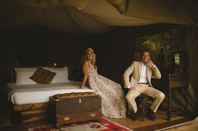 Honeymoon Adventures - this couple went on an African Safari!! Too cool!!