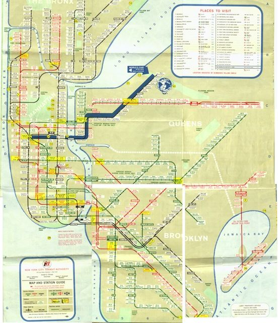 a look at historic nyc subway maps starting in when the irt bmt and ind companies ran independent subway systems through manhattan brooklyn and queens