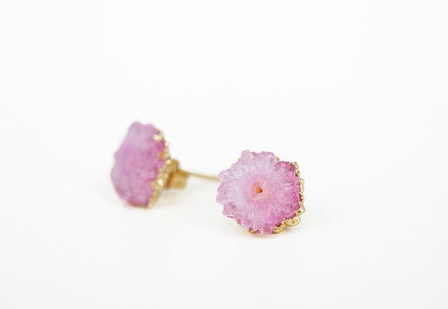 Crystal Flower – kolczyki z kryształami sztyfty 02 - Lili-in-the-Garden - Kolczyki wkrętki