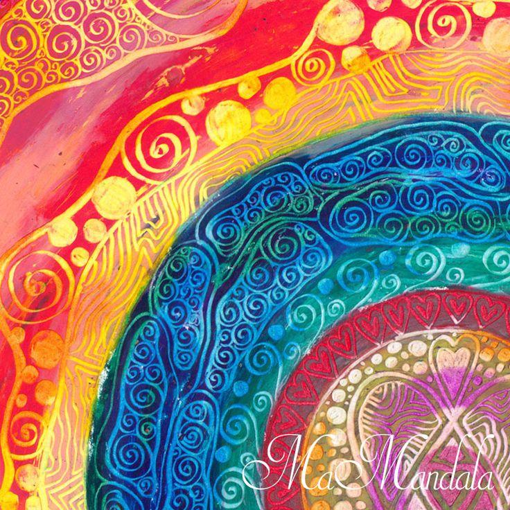 Mandala Samolepka Detail Radost