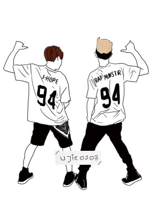 [FA] Rap Monster & J-Hope NamSeok MonHope 94z bts fanart art