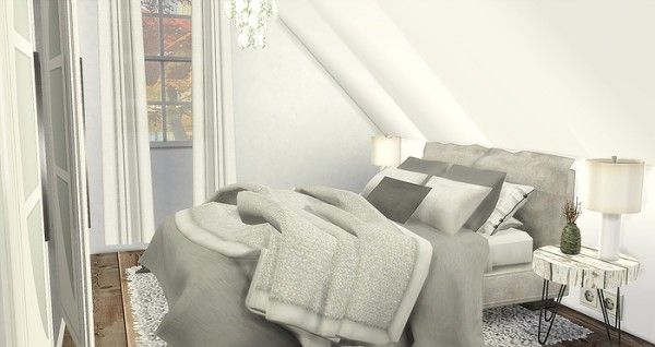 Caeley Sims: Attic Bedroom • Sims 4 Downloads