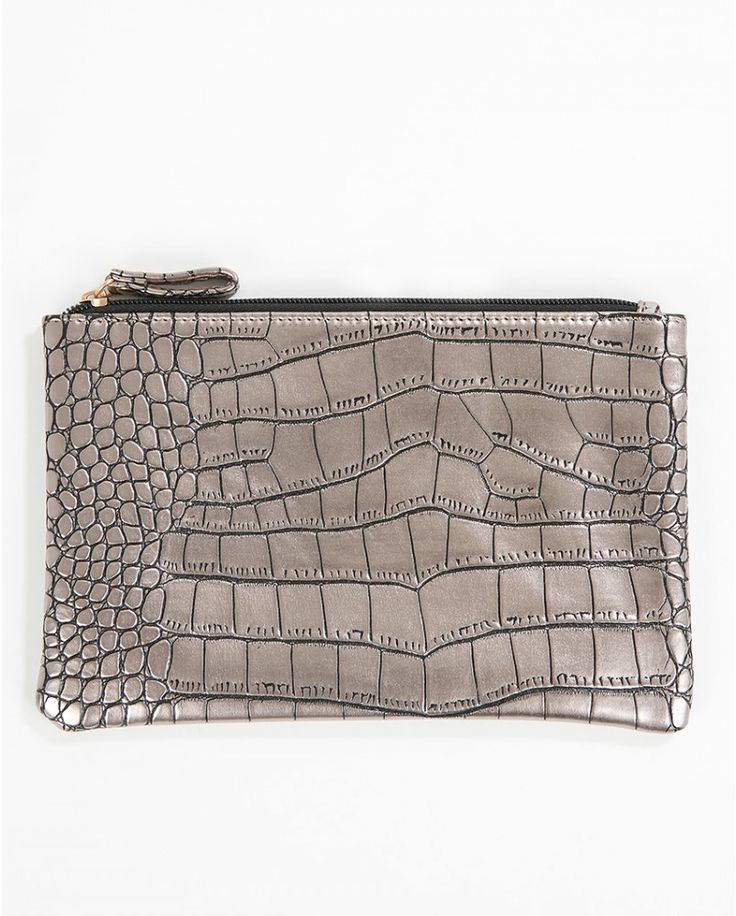 Pieces Kroko Clutch - Atterley Road #ARWishlist @atterleyroad