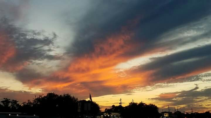 Fiery Austin sunset.