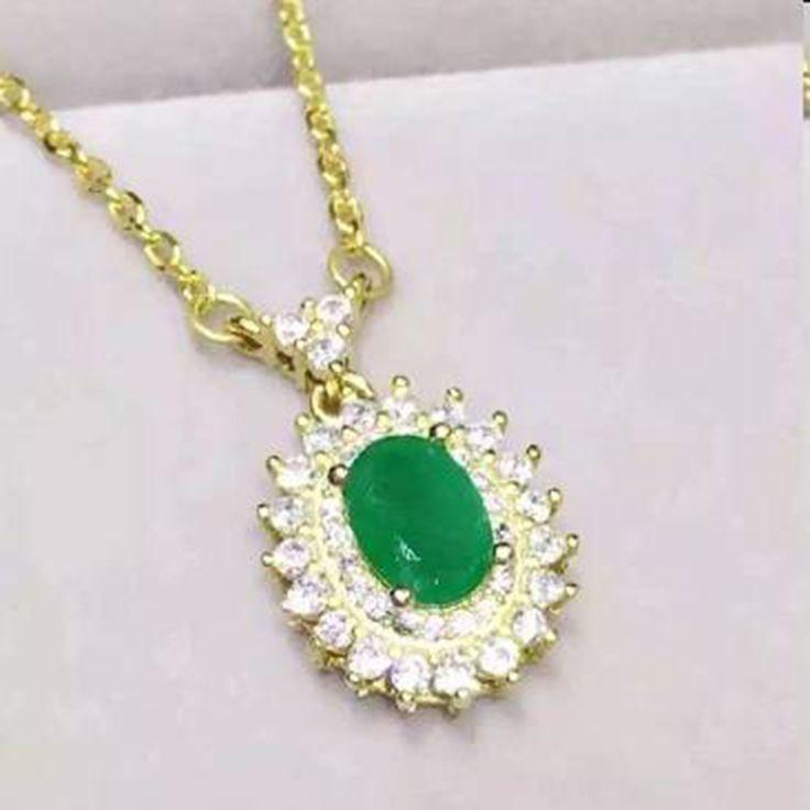 Ци Xuan_Fine Jewelry_Natural Колумбийские Изумруды Мода Necklaces_S925 Сплошной Серебряный Кулон Necklaces_Factory Непосредственно Продаж