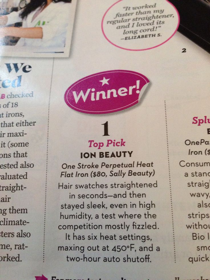 Top rated flat iron in Good Housekeeping