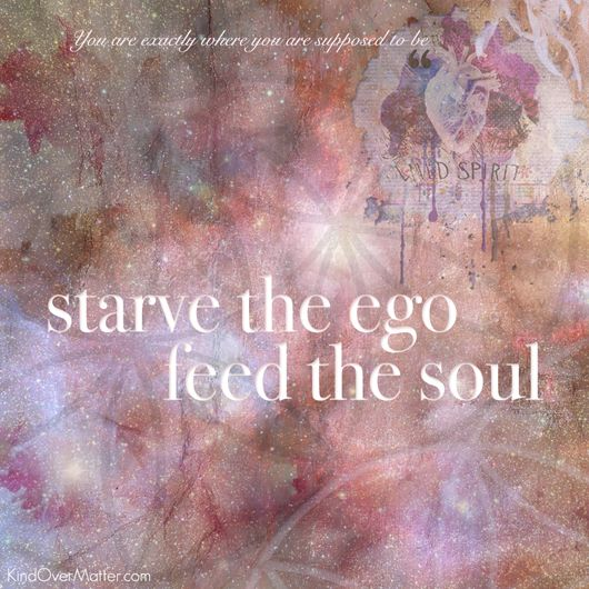 Starve the ego, feed the soul, beautiful #inspiration from @kindovermatter #beautifulsoul