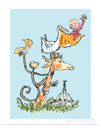 "The Giraffe and the Pelly and Me Posters by Quentin Blake at AllPosters.com $21.99 11""x14"""